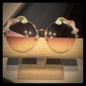 Rose colored, unicorn/rainbow glasses